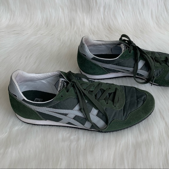 new style 4120b 74b28 ASICS Onitsuka Tiger Sneakers In Green & Gray